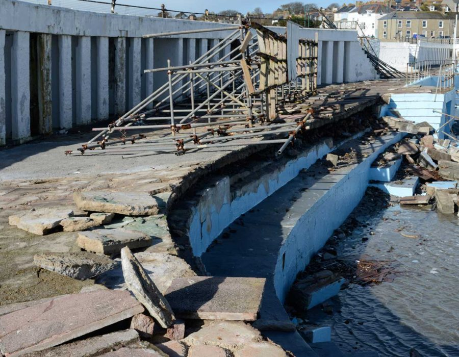 Jubilee Pool Storm Damage